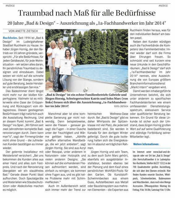 Presse Artikel 2014